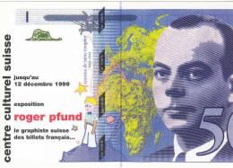 Roger Pfund Le Graphiste Des Billets Français Billet De 50 Francs - Monnaies (représentations)