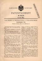 Original Patentschrift - C. Felling In Unna - Königsborn , 1901 , Zusammenlegbarer Tisch , Möbel   !!! - Möbel