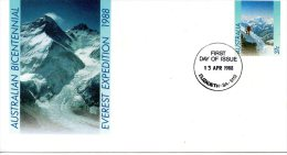 AUSTRALIE. Entier Postal Avec Oblitération 1er Jour De 1988. Alpinisme/Everest - Climbing