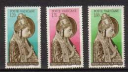Vaticano 1955 5° Cent. Della Morte Di Nicolo V La Serie Cpl. 3 Val. Nuovi** - Neufs