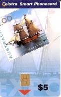 TARJETA DE AUSTRALIA DE UN SELLO CON UN BARCO (STAMP-SHIP) NUEVA-MINT - Sellos & Monedas