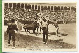 CORIDA De TOROS Um 1930/1940,  Verlag: L: Roisin; Barcelona. , POSTKARTE Unbenutzte Karte - Stierkampf