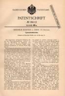 Original Patentschrift - Heinrich Dorfner In Steyr , 1901 , Typenschneidmaschine !!! - Maschinen