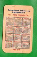 19 URUGUAY 1949 CALENDARIOS- Dos ASantos Bicicletas  REBAJADO!!!!!!!!!! 21.5 % - Kalender