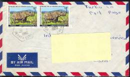 Cameroun 1980 - Rhinos, Postage Used Cover In Finnland - Rhinozerosse