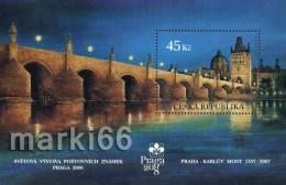 Czech Republic - 2007 - Praga 2008, International Philatelic Exhibition, Charles Bridge - Mint Souvenir Sheet - Nuovi