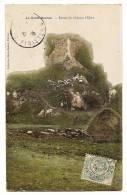 La ROCHE MAURICE - Ruines Du Château L'Elorn - Carte Colorisée écrite & Timbrée En 1906 - La Roche-Maurice