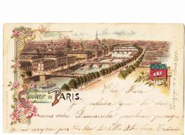Souvenir De PARIS - Superbe Carte Colorée - Saint Cloud