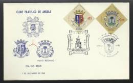 01 / 12 / 1965 - DIA DO SELO - LUANDA - NOVO REDONDO - 2 SCANS - Angola