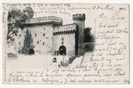 PERPIGNAN - Château Du Castillet ( Façade Est ) - Carte écrite & Timbrée En 1902 - Perpignan