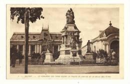Cp, 90, Belfort, Le MOnument Des Trois Sièges, Le Palais De Justice Et La Salle Des Fêtes, écrite 1928 ? - Belfort – Siège De Belfort