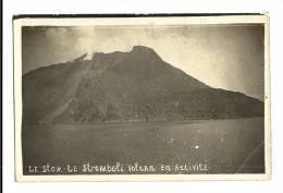 Cp, Italie, Le Stom, Le Stromboli, Volcan En Activité, écrite - Altri