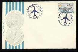 03 / 12 / 1970 - VIII EXPOSIÇÃO FILATÉLICA NACIONAL - DIA DA AEROFILATELIA - N.º 0787 - 2 SCANS - Angola