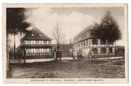 HOLZBAD - WESTHOUSE - Restaurant E. Derivaux - Départ De Promenade à Vélo Bicyclette - Carte écrite Georgette Derivaux - Non Classés