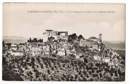 CORBERE D'AMONT - Le Village En Ruines Et Le Château Féodal - Carte Vierge - Non Classificati