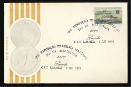 LUANDA - 07 / 12 / 1970 - VIII EXPOSIÇÃO FILATÉLICA NACIONAL - DIA DA MARCOFILIA - N.º 0357 - 2 SCANS - Angola