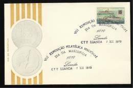 LUANDA - 07 / 12 / 1970 - VIII EXPOSIÇÃO FILATÉLICA NACIONAL - DIA DA MARCOFILIA - N.º 0365 - 2 SCANS - Angola