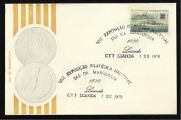 LUANDA - 07 / 12 / 1970 - VIII EXPOSIÇÃO FILATÉLICA NACIONAL - DIA DA MARCOFILIA - N.º 0368 - 2 SCANS - Angola
