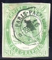 N° 2 Oblitéré (Télégraphe)  COTE= 275 Euros !!! - Telegraaf-en Telefoonzegels