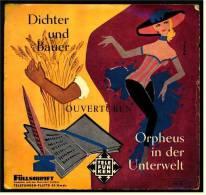 """7"""" Zoll Single : Ouvertüren  - Orpheus In Der Unterwelt  - Dichter Und Bauer - Von Telefunken Nr. UX 4507 - 1960 - Oper & Operette"""