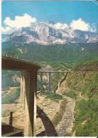 CPSM Couleur : CHEDDE ( Hte-Savoie):le Viaduc Des EGRATZ:superbe Photo Verticale Avec Montagne En Arrière-plan - Autres Communes