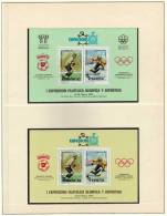 Fußball-WM ESPANA 1982 Torwart Spanien Blocks SD1+2/79 ** 80€ Olympia Placid 1980 Philatelic Bloc Soccer Sheet Bf Espana - Fogli Ricordo
