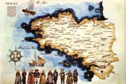 Thématiques Bretagne Carte Regionale  Bretonne Breiz - Bretagne