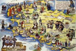 Thématiques  Les Provinces Françaises La Bretagne Geographie Folklorique Du Costume - Bretagne