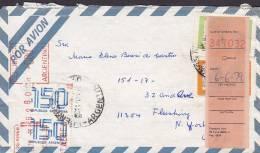 Argentina Airmail Por Avion Registered Einschreiben Meter Stamp 1979 Cover Letra NEW YORK United States (2  Scans) - Luftpost
