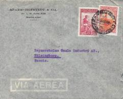 Argentina Airmail Via Aerea SPARR-HOFSTEDT & Cia. BUENOS AIRES Cover Letra 1949 To HÄLSINGBORG Sweden Suecia - Luftpost