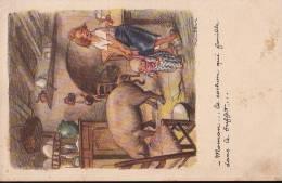 Le Cochon Qui Fouille Dans Le Buffet.  Ligue Contre Le Taudis. - Cochons