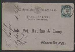 Ganzsachen P 11IIF ,mit Sachsen Stempel Mylau (3126) - Bayern