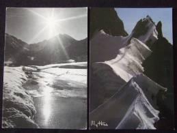 PAYSAGES DE NEIGE A LA MONTAGNE / LOT DE 16 BELLE CARTES PHOTOS EN NOIR ET BLANC / TOUTES LES PHOTOS - Cartes Postales