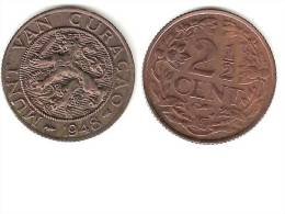 *curacao 2,5 Cents 1948     Unc  !!!!catalog Val 2016  =20,00$ - Curacao