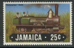 "Jamaica 1984 Mi 595 ** Locomotive ""Enterprise"" (1845)  / Lokomotive - Eisenbahn - Treinen"