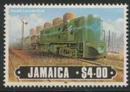 Jamaica 1985 Mi 619 ** Diesel Locomotive No. 102/ Lokomotive - Eisenbahn - Treinen