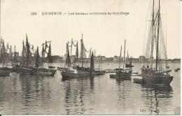 """QUIBERON, LES BATEAUX SARDINIERS AU MOUILLAGE (""""LE GOUEZEL"""") - Quiberon"""