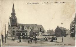 MONTDIDIER, LA PLACE PARMENTIER ET L'EGLISE SAINT-PIERRE - Montdidier