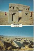 TIWANACU -  A, PUERTA DEL SOL VISTQA POSTERIOR. B, RUINAS DE PUMA PUNKU - - Bolivia