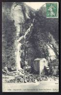 CPA  ANCIENNE- FRANCE- LA MOTTE-LES-BAINS (73)- LES SOURCES- LA GRANDE CASCADE ET LE MOULIN EN GROS PLAN - Other Municipalities