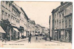 Wavre. - Rue Du Pont Du Christ, Attelage Au Fond, Très Animée - Wavre