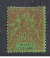 ANJOUAN - N° 7 *  - Cote : 17,50 Euros - Anjouan (1892-1912)