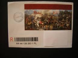 2010 - Grunwald Battle On Registred Letter - Blocks & Sheetlets & Panes