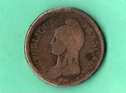 UN DECIME  Dupre,surfrappe  Du2 Decimes An 6a - 1789 – 1795 Monete Costituzionali