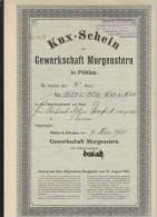 Gewerkschaft Morgenstern Pöhlau 10 Kuxe 1938 - Bergbau