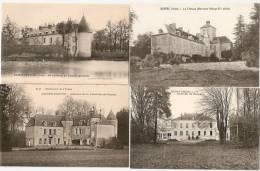 36 Ste-Fauste, St-Maur, Ruffec, St-Civran Lot De 4 CP Anciennes, Ref 424 - Non Classés