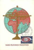 Fev13 07 : Carte Maximum  -  Radio-Télévision éducatives - 1960-69