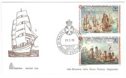 FDC  CAPITOLIUM - ANNO  1989 - ANTICHE BATTAGLIE  - SMOM  SOVRANO MILITARE ORDINE DI MALTA - Sovrano Militare Ordine Di Malta