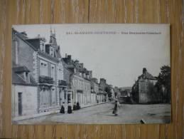 CPA ANIMEE SAINT AMAND MONTROND - RUE BENJAMIN CONSTANT- - Saint-Amand-Montrond