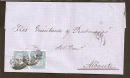 ESPAÑA 1865 - Primer Centenario - Envuelta - 1850-68 Regno: Isabella II